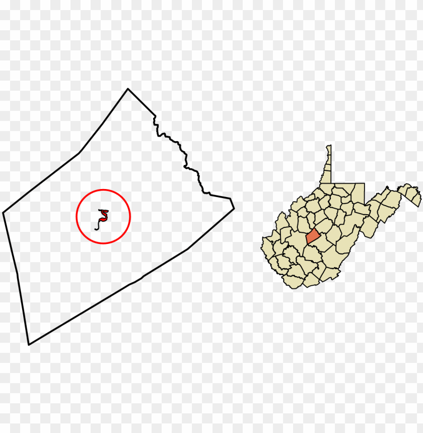 free PNG clay county west virginia incorporated and unincorporated - map of west virginia PNG image with transparent background PNG images transparent