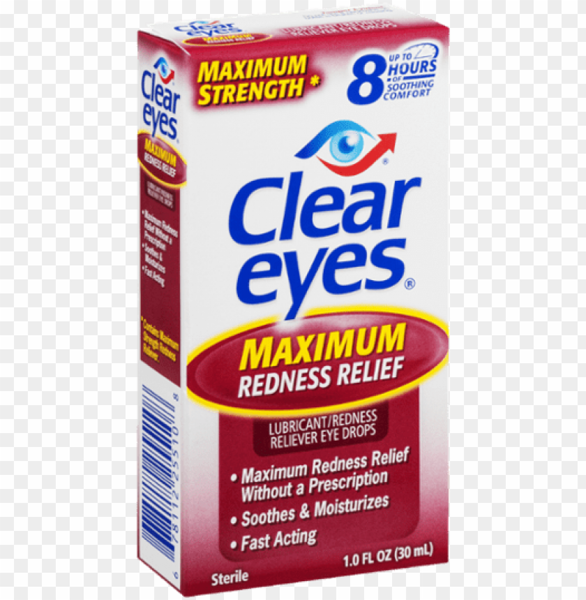 free PNG clear eyes lubricant/redness reliever eye drops maximum - clear eyes maximum strength redness relief eye drops, PNG image with transparent background PNG images transparent