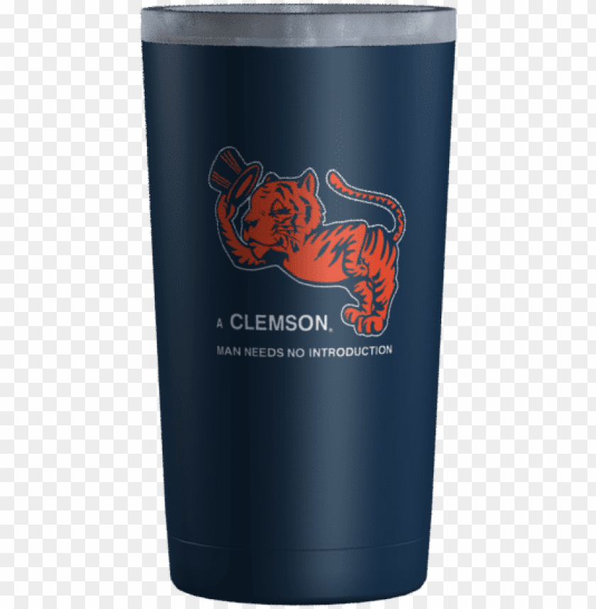 free PNG clemson man navy - pint glass PNG image with transparent background PNG images transparent
