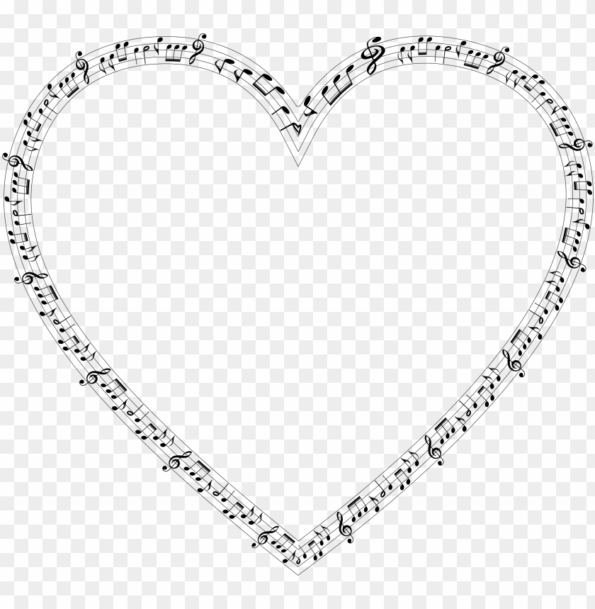 free PNG clip art free stock music heart clipart - music notes heart PNG image with transparent background PNG images transparent