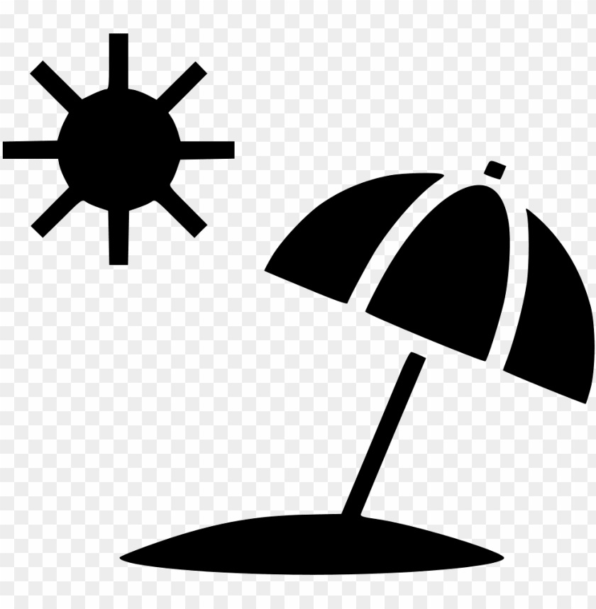 free PNG clip art freeuse stock sun summer umbrella beach svg - beach symbol PNG image with transparent background PNG images transparent
