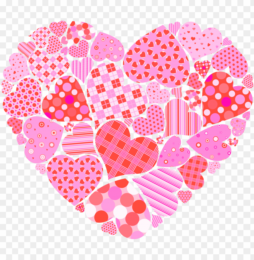 free PNG clip art freeuse valentines day of hearts png picture - valentines day heart clipart PNG image with transparent background PNG images transparent