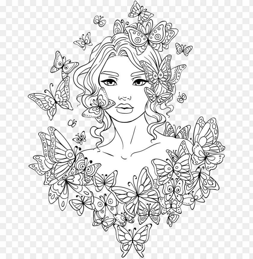 Clip Art Library Library Amazon Drawing Coloring Page Girl