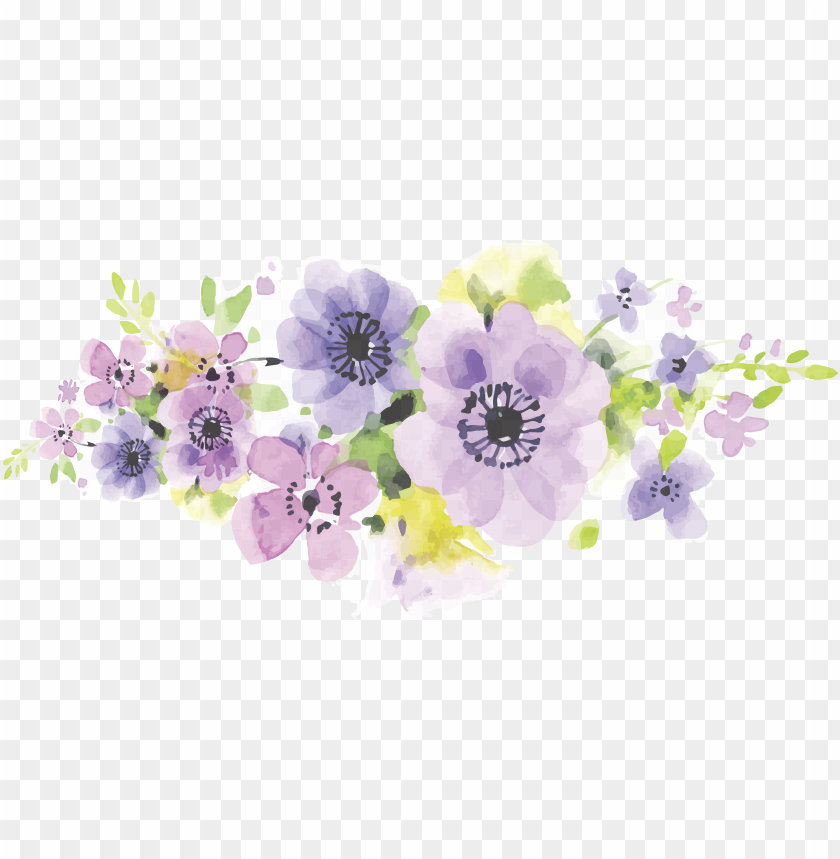 free PNG clip art library library floral design flower floristry - purple floral watercolor PNG image with transparent background PNG images transparent