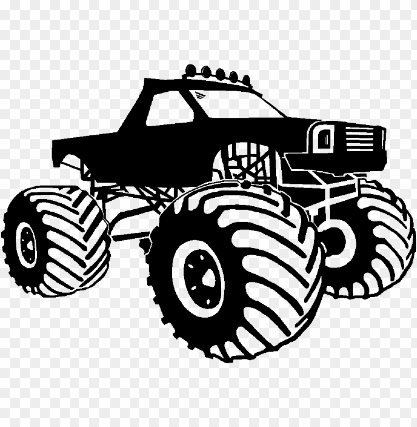 Clip Art Royalty Free Library Collection Of Black And Black And White Monster Truck Png Image With Transparent Background Toppng