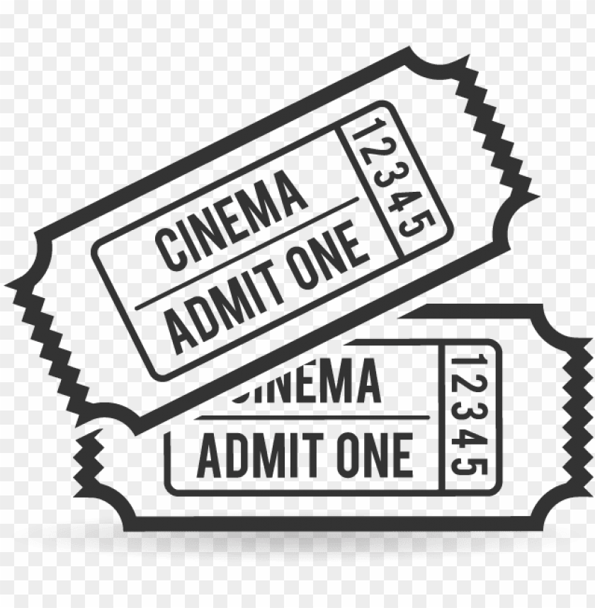Clip Art Transparent Movie Ticket Clipart Black And Png Image With Transparent Background Toppng