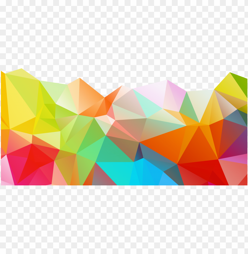 Clip Black And White Geometry Color Graphics Transprent Abstract Colorful Transparent Polygonal Background Png Image With Transparent Background Toppng