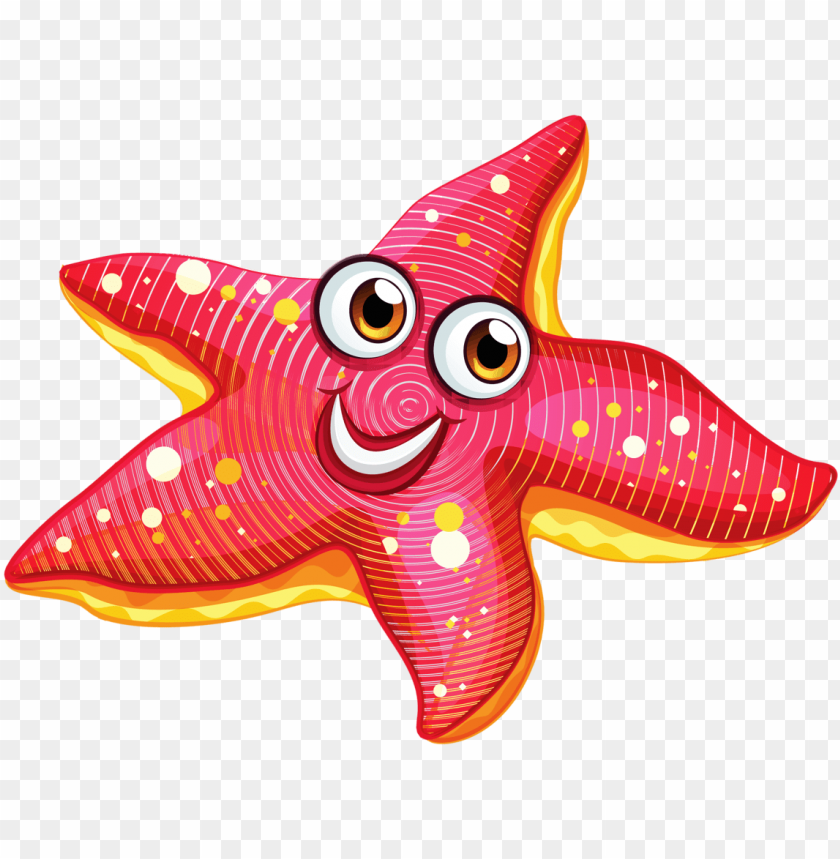 Clip Free Download Kawaii Clipart Starfish Sea Star Cartoon Png Image With Transparent Background Toppng
