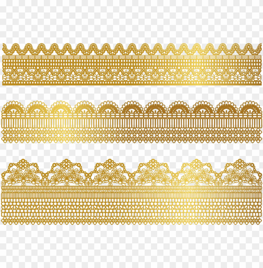 free PNG clip stock gold textile ribbon border transprent png - gold lace border PNG image with transparent background PNG images transparent