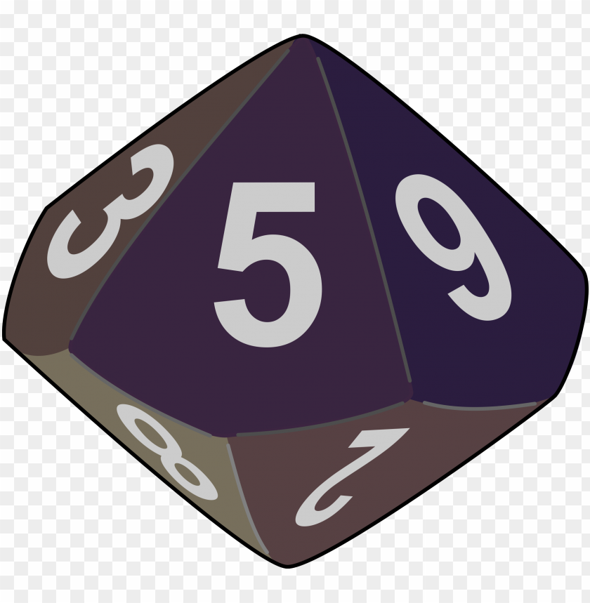 free PNG clipart - 10 sided dice PNG image with transparent background PNG images transparent