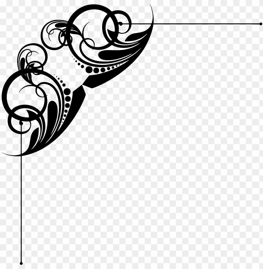free PNG clipart free clipart corner ornament line art big image - decorative png ornament border PNG image with transparent background PNG images transparent
