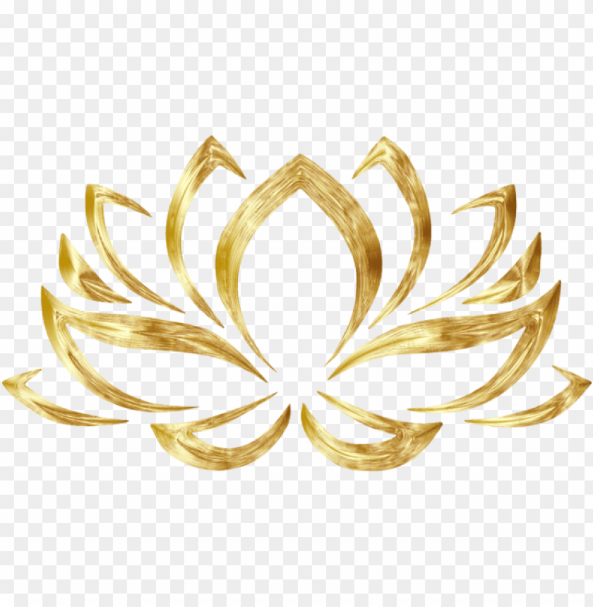 clipart goldenized lotus flower lotus flower clipart - gold lotus flower PNG image with transparent background@toppng.com