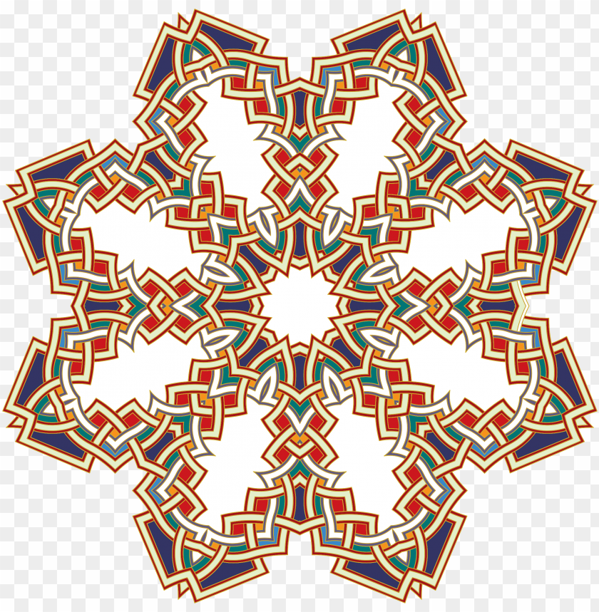 free PNG clipart islamic geometric art 2 png - islamic borders PNG image with transparent background PNG images transparent
