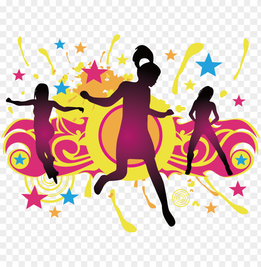Clipart Library Download Dance Party Dance Party Silhouette Png Image With Transparent Background Toppng