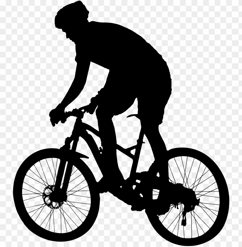 clipart - mountain biker silhouette PNG image with transparent background@toppng.com