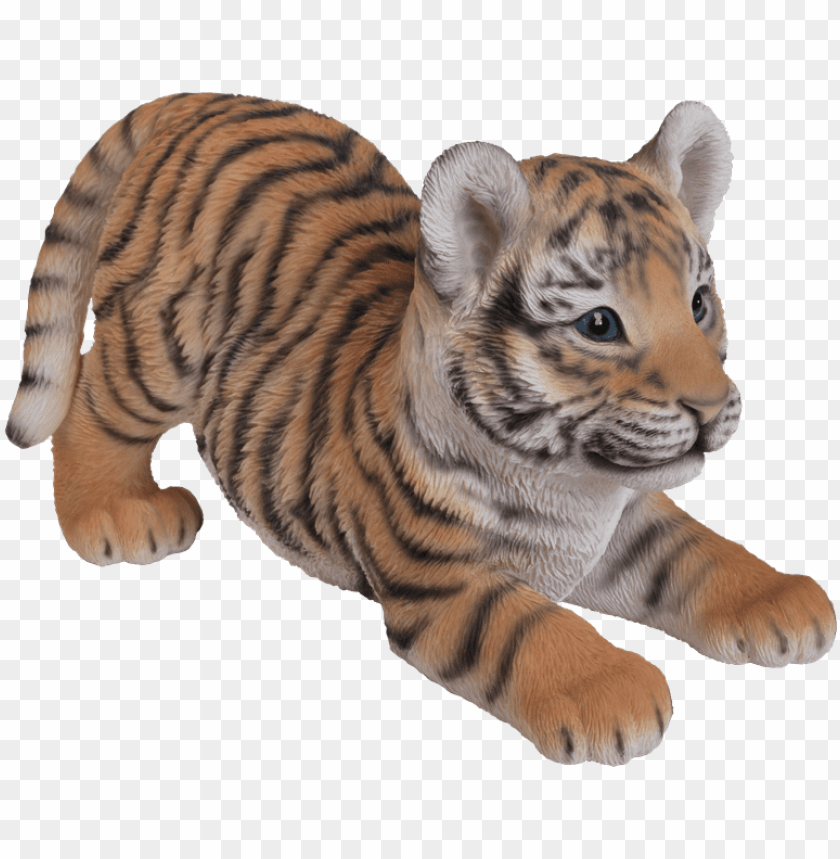 free PNG clipart royalty free stock transparent tiger big cat - hi-line gift ltd. playing tiger cub figurine PNG image with transparent background PNG images transparent
