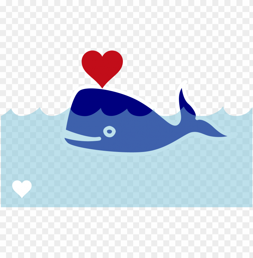 free PNG clipart whale real whale - cartoon whale with heart PNG image with transparent background PNG images transparent