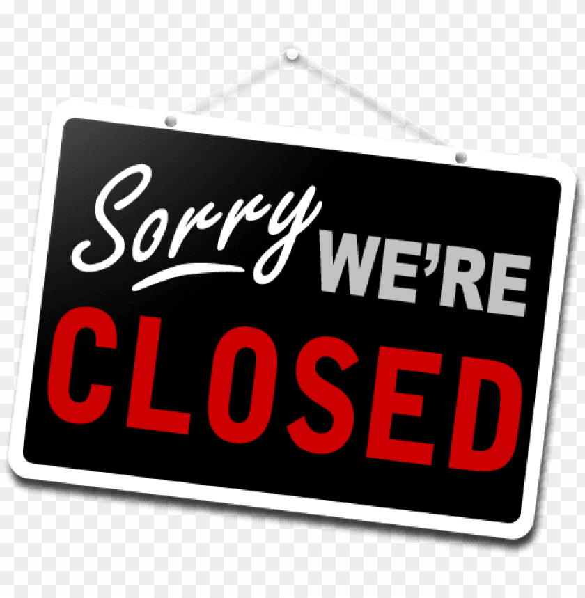 closed-sign - closed for business PNG image with transparent background@toppng.com