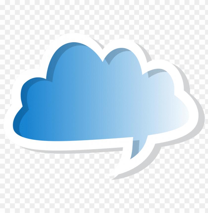 free PNG Download cloud bubble speech blue clipart png photo   PNG images transparent