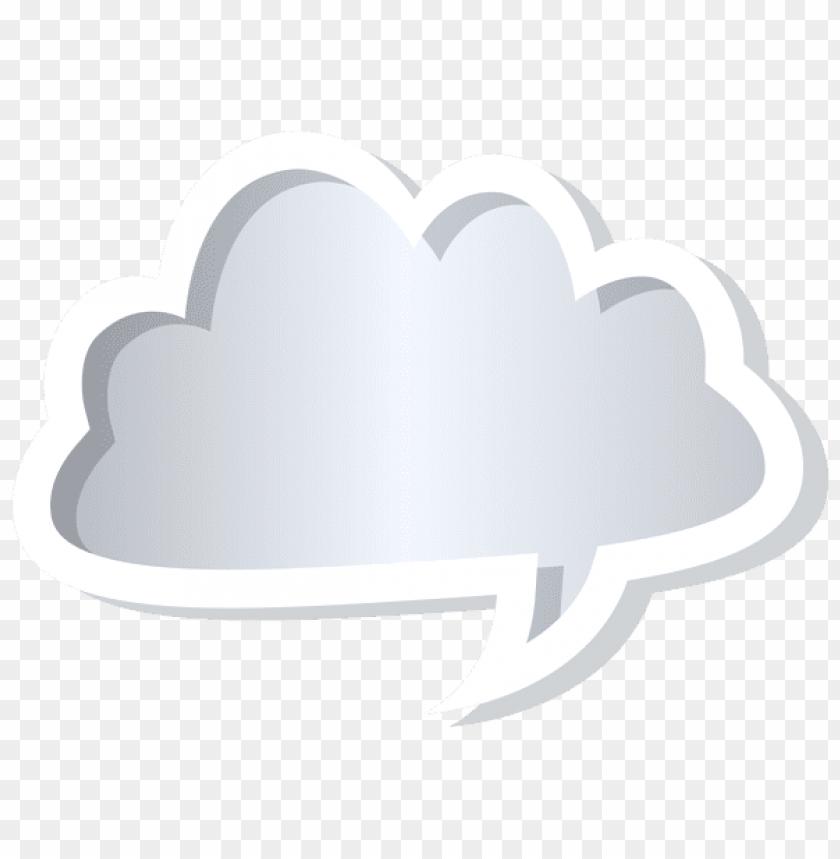 free PNG Download cloud bubble speech grey clipart png photo   PNG images transparent