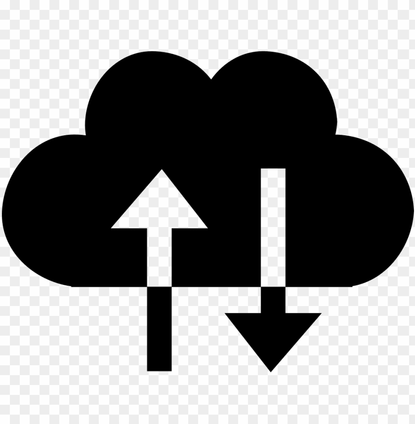 free PNG cloud exchange symbol with up and down arrows couple - cloud up down ico PNG image with transparent background PNG images transparent