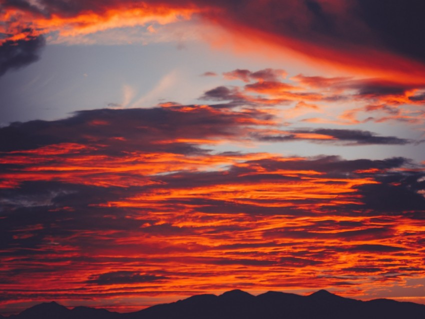 free PNG clouds, sky, sunset, red, porous, mountains, fiery background PNG images transparent