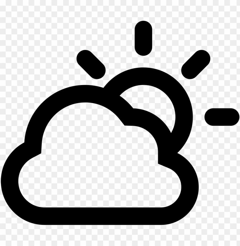free PNG cloudy day outlined weather interface symbol svg png - weather symbol PNG image with transparent background PNG images transparent