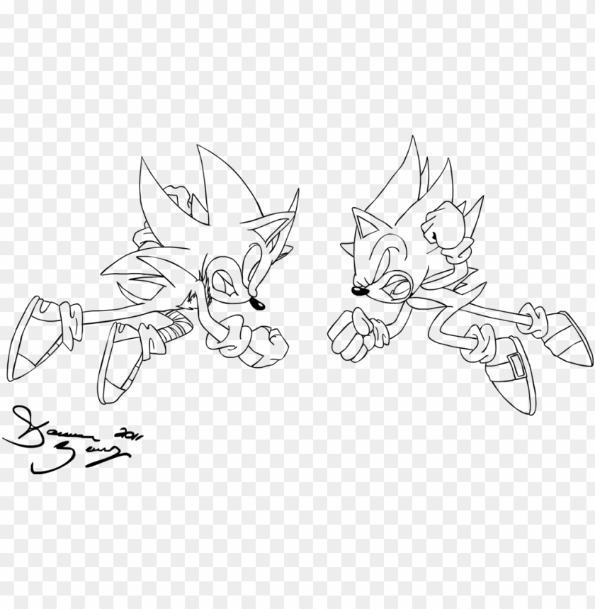Cm - Super Sonic Vs Super Shadow Coloring Pages PNG Image With Transparent  Background TOPpng