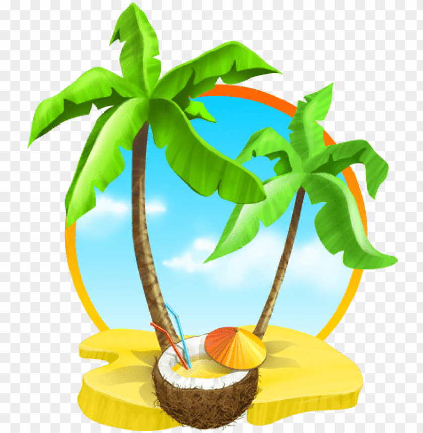 free PNG coconut tree leaves png download - coconut tree beach PNG image with transparent background PNG images transparent