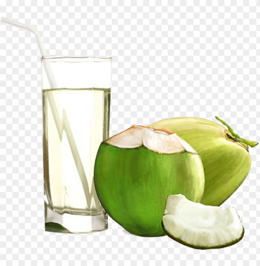 free PNG coconut water - coconut water juice glass PNG image with transparent background PNG images transparent