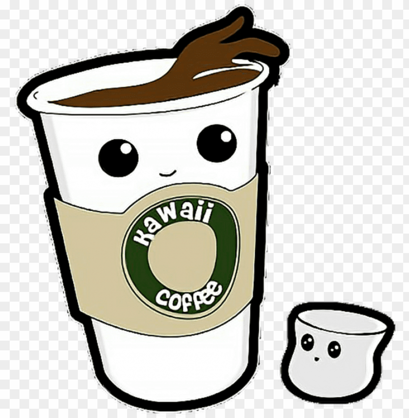 free PNG coffee cafe espresso starbucks cup free photo png - kawaii coffee PNG image with transparent background PNG images transparent