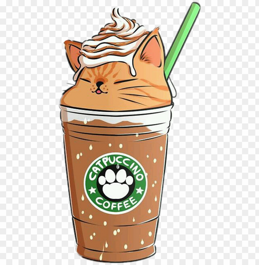 Coffee Capuccino Cat Emoji Remixit Cute Food Kawaii