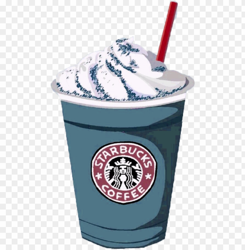 free PNG coffee frappuccino ice starbucks cream hand-painted - starbucks caramel frappuccino PNG image with transparent background PNG images transparent