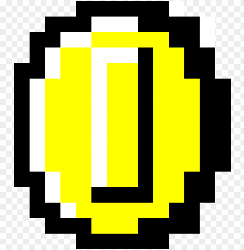 free PNG coin - mario coin perler beads PNG image with transparent background PNG images transparent