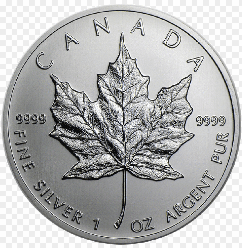 free PNG coinimg canadian mapleleaf silver2 - canada 1 oz silver maple leaf PNG image with transparent background PNG images transparent