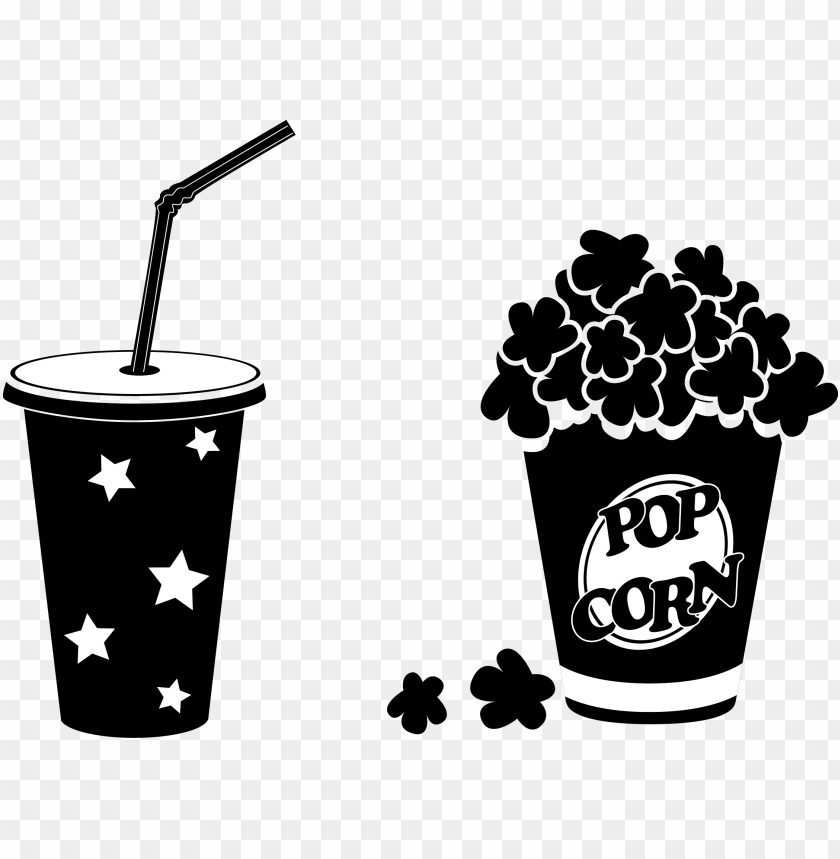 free PNG coke vector popcorn - popcorn black and white PNG image with transparent background PNG images transparent