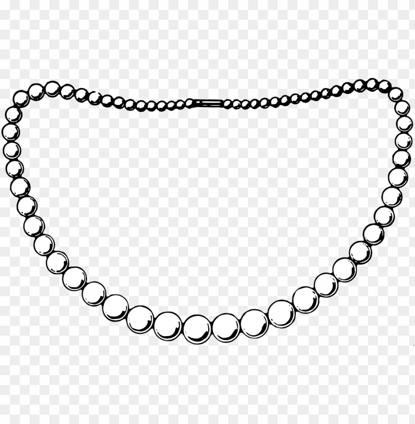 free PNG collection of necklace black and white - black and white pearl necklace clipart PNG image with transparent background PNG images transparent