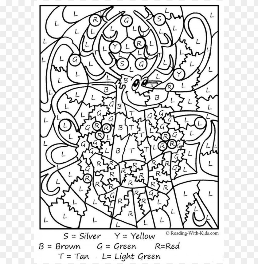 color by number coloring pages for adults PNG image with ...