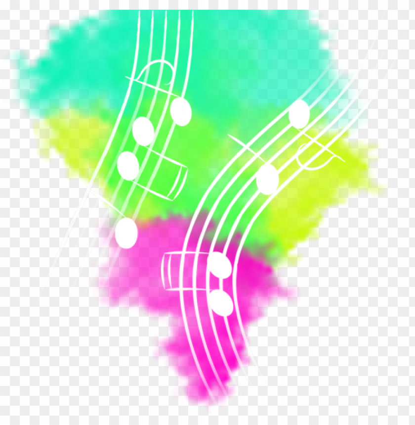 color explosion with notes and music, music, explosion, - music explosion PNG image with transparent background@toppng.com