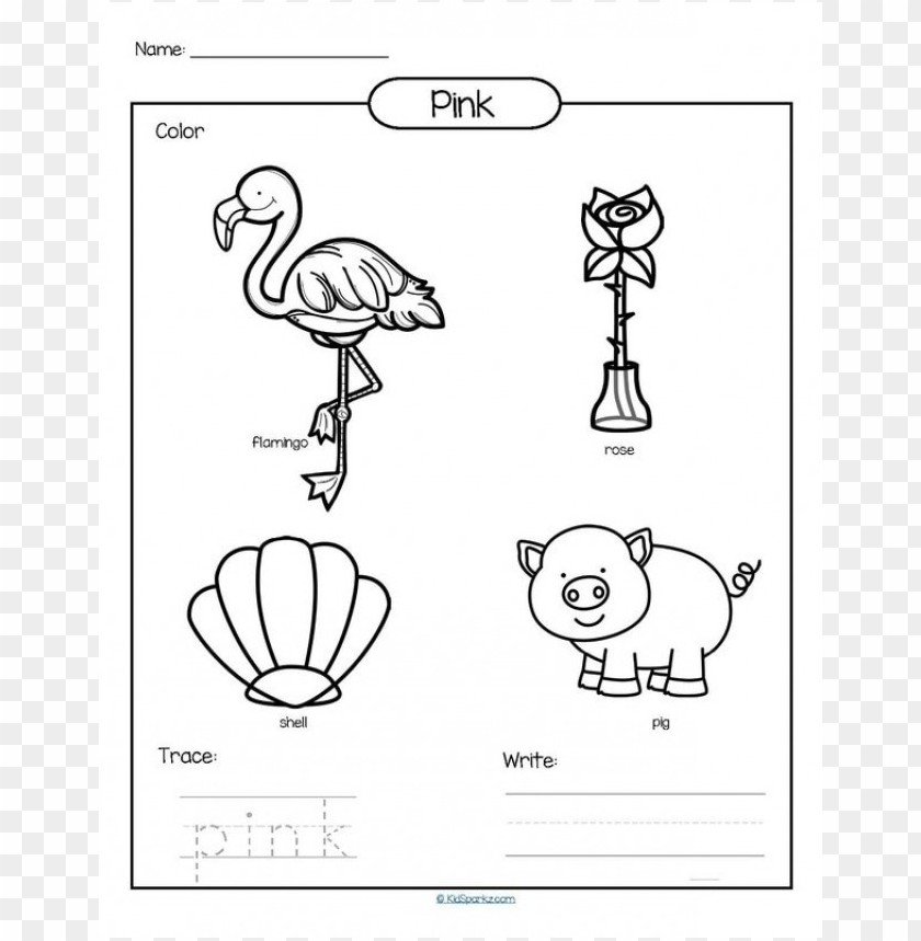 color pink coloring pages PNG image with transparent background ...   859x840