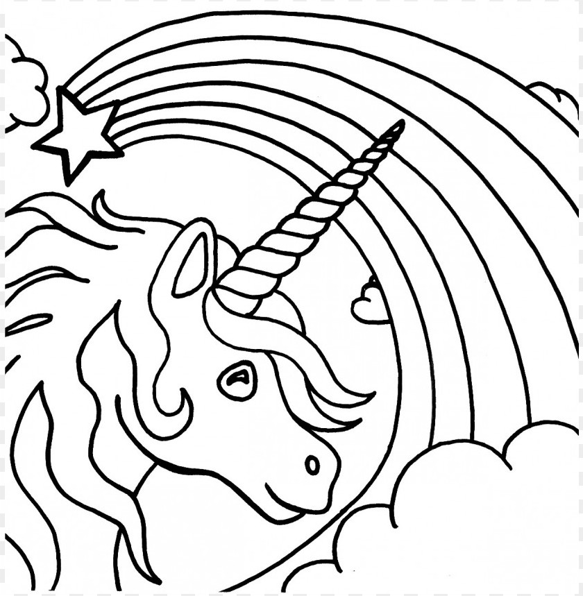 Color Rainbow Coloring Pages Png Image With Transparent Background Toppng