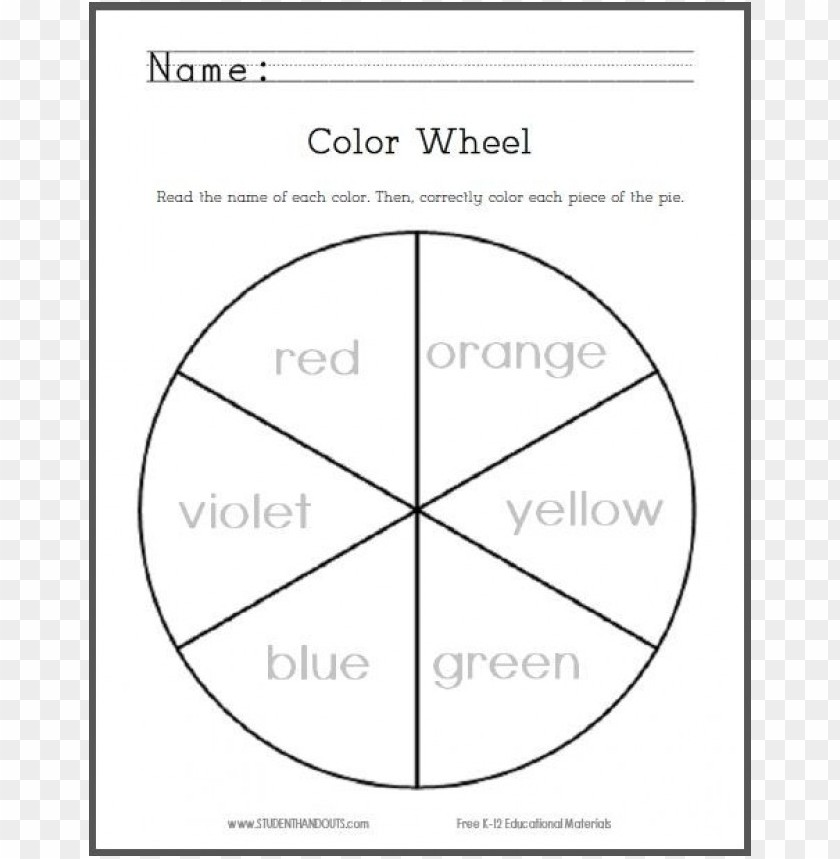 Color Wheel Coloring Page Png Image