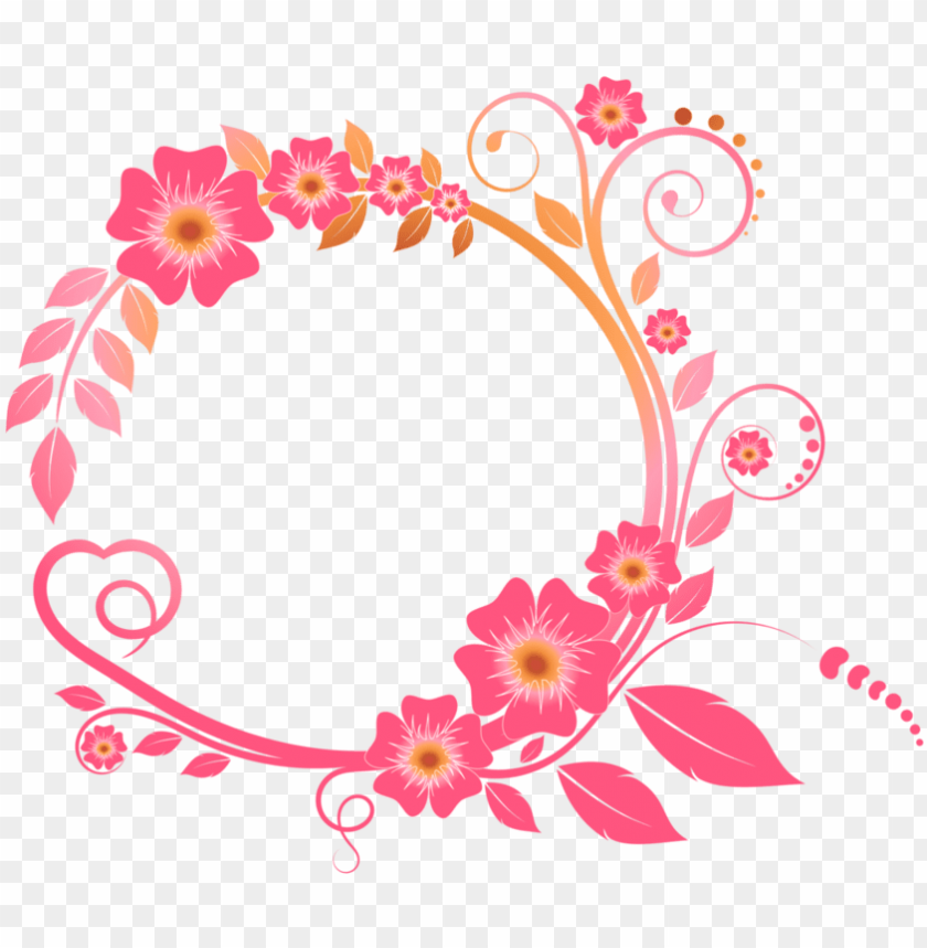 free PNG colored floral png high-quality image - floral black and white frame border PNG image with transparent background PNG images transparent