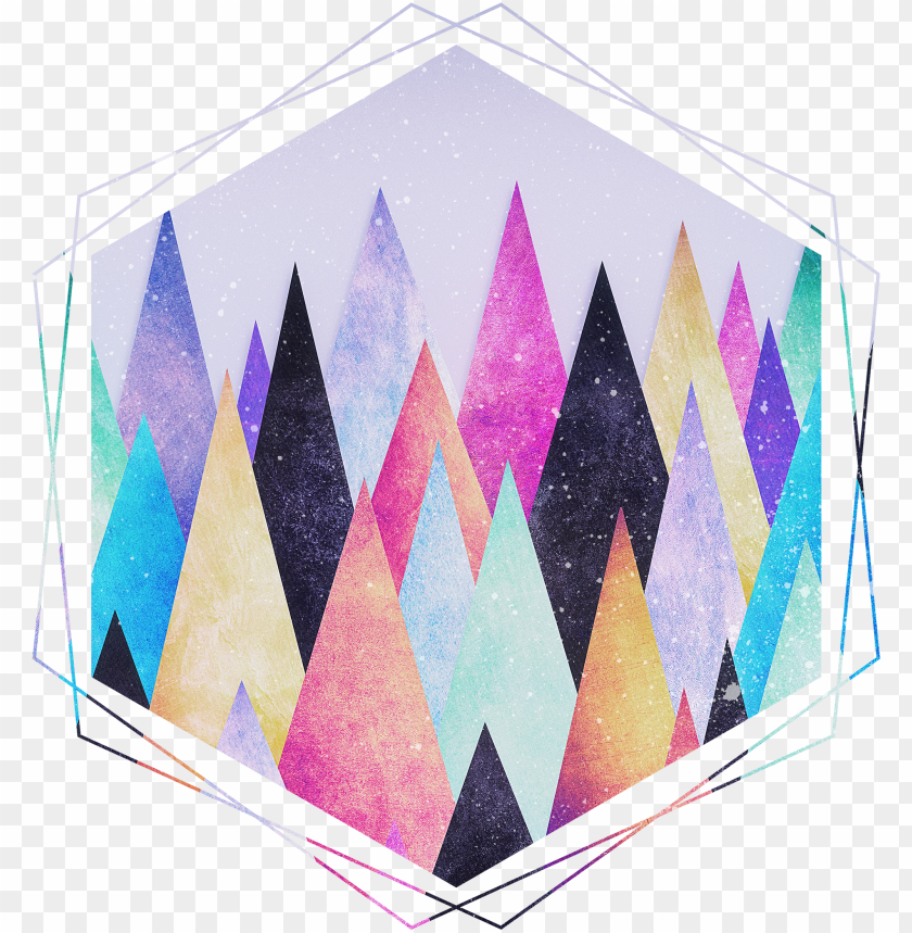 free PNG colorful abstract geometric triangle peak wood's - artscase slimfit designers triangle peak woods by phili PNG image with transparent background PNG images transparent