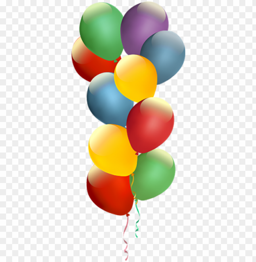 free PNG colorful birthday balloon, colorful, birthday, balloon - balloo PNG image with transparent background PNG images transparent