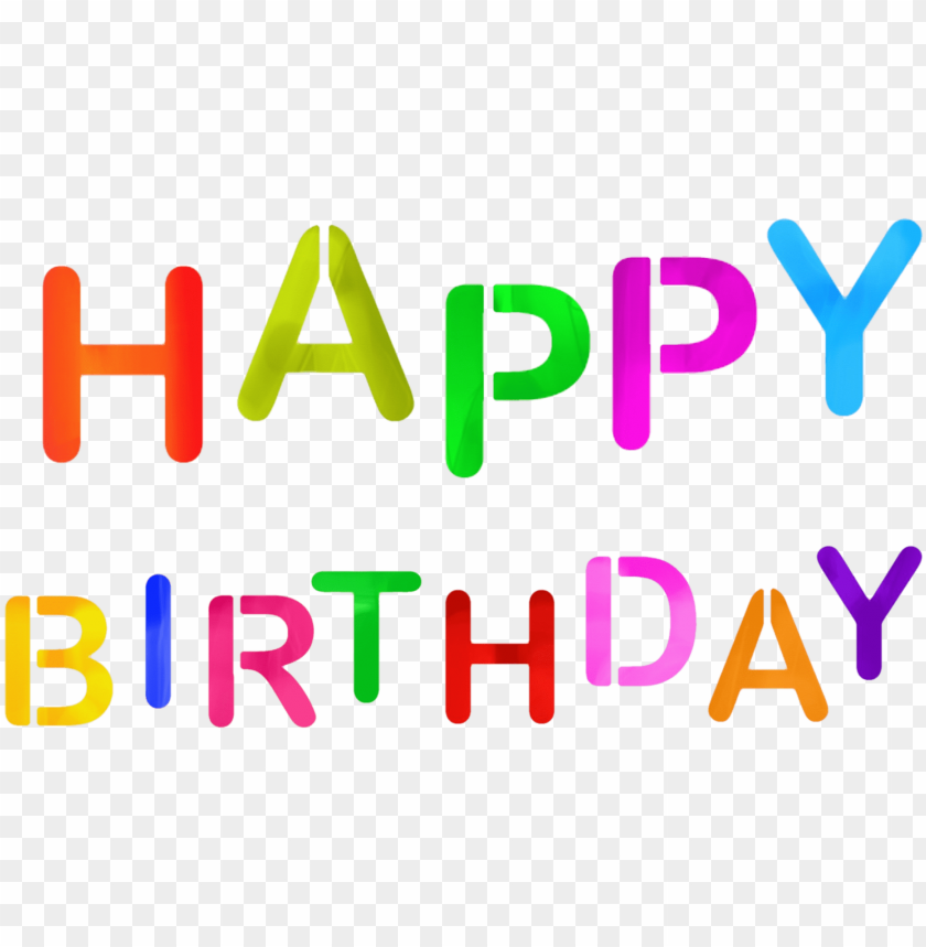 free PNG colorful happy birthday image - love you mom happy mothers day PNG image with transparent background PNG images transparent