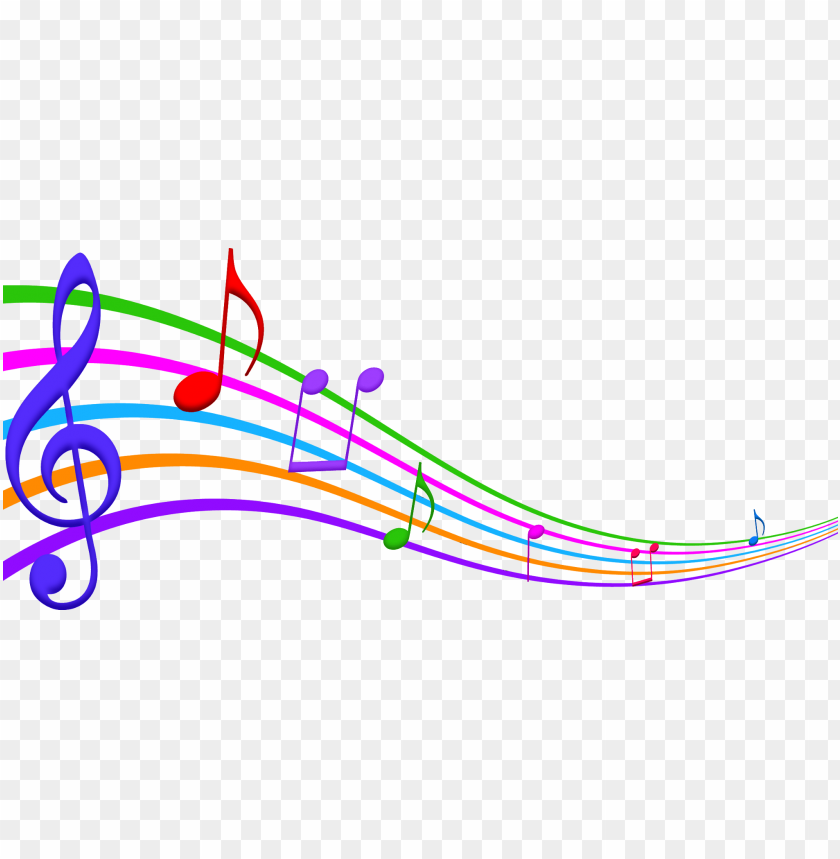Colorful Musical Notes Png Png Image With Transparent Background Toppng