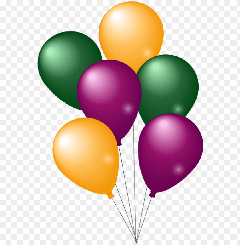 free PNG colorful party balloons png image - balloons PNG image with transparent background PNG images transparent