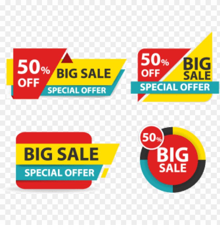 free PNG colorful shopping sale banner, business, card, template - sale banner PNG image with transparent background PNG images transparent