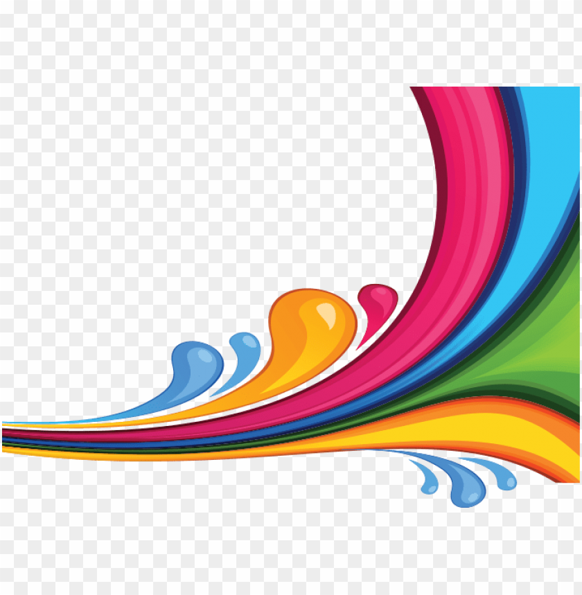 free PNG colorful waves png - colour design waves PNG image with transparent background PNG images transparent